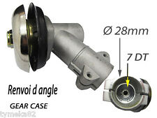 debroussailleuse renvoi d angle adaptable   tube 28 mm fixation étoile 7 dents