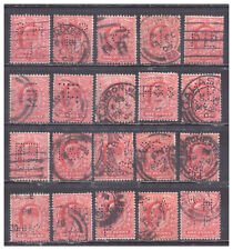 New listing Great Britain #128 Perfins used collection of 20