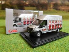 OXFORD OFFICIAL COCA COLA DIET COKE LWB TRANSIT VAN 1/76 BOXED & NEW 76FT018CC