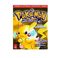 Ultra-Rare Pokemon Yellow Official Guide by Prima! Brand new & case fresh!