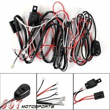 Off Road Fog Driving Light Wiring Loom Harness Kit with Mouse Switch Universal