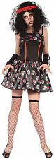 Ladies Sexy Day of The Dead Bride Halloween Fancy Dress Costume Outfit 10-14