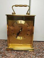 Vintage Rare James Walker Brass Mantle Tabletop Clock Fully Working! A****