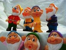 Vintage Disney 7 Dwarf Squeak Figures...Very Good Condition..from the 80's