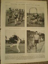 Printed photos Junior tennis champion F H D Wilde & Beatrice Lillie  France 1928