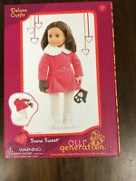 "Our Generation 18"" Doll Deluxe Snow Sweet Outfit Coat Mittens Tights Boots - NEW"