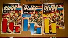 GI Joe Cobra Battle Gear #1 #2 #3 card backs empty box only vintage ARAH