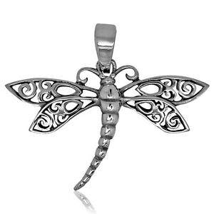 925 solid Sterling Silver Dragonfly pendant