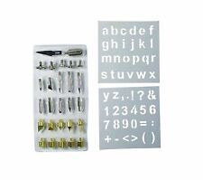 28pc Wood Burning Pen Tips & Stencil Set Soldering Iron Working Carving Burner