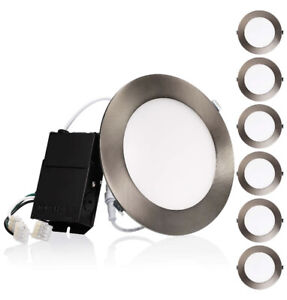 6 PACK 6 Inch 13.5w Slim Dimmable LED Recessed Ceiling Downlight,3000K Open Box