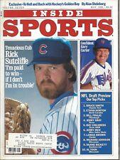 1985 Inside Sports baseball magazine Rick Sutcliffe Chicago Cubs, Gary Carter EX
