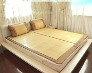 Bamboo summer mat cool bed mat both size sheet rug floor mat 夏季双面折叠原色竹席凉席