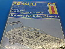 Renault 20 1976-80' All Models Haynes Workshop Manual BNIP!!!!