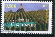 TIMBRE FRANCE OBLITERE N° 3561 LES VIGNOBLES DE CHAMPAGNE