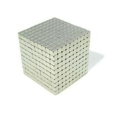 "1000pcs 3/16"" x 3/16"" x 3/16"" Block 5x5x5mm Neodymium Magnet Craft Permanent N35"