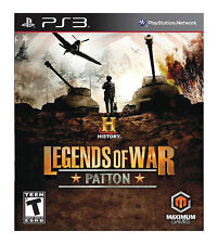History: Legends of War Patton (Sony PlayStation 3, 2012) Complete, Free Ship*