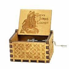 Davy Jones Music Box- 18 Note Hand Crank Mechanism Wooden Music Box