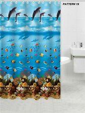 100 Polyester Fabric Modern DESIGNER Washable Shower Curtain 12 Hooks 180*180
