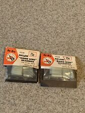 """Vintage New RC R/C NOS DU-BRO HB-75 Nylon Horn Wire Bearings For 3/32"""" Wire"""