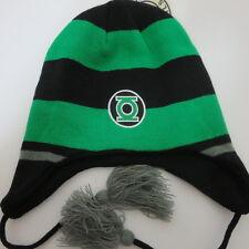 Green Lantern Logo Black Skate Ski Laplander Winter Beanie Hat CLEARANCE SALE