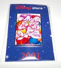 Disney Store 2001 Snow White Seven Dwarfs Exclusive Commemorative Pin - New