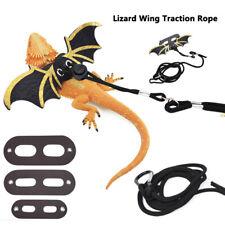 Lizard leash Reptile harness Adjustable bearded dragon+Cool Leather Wings