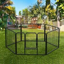 Heavy Duty 6 Panel Puppy Dog Playpen Run Enclosure Whelping Play Pen Pet Cage