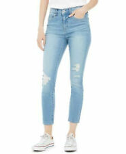 Style & Co. Curvy Fit Skinny Leg Jeans Size 4 Destroyed Stretch Med Wash NEW