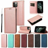 Fr iPhone 12 Pro Max 11 Xr Xs 8 7 6 Plus Flip Case Magnetic Leather Wallet Cover