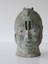 Africaine Art Grand Bronze Tête Head Afrique Ife? Bénin?
