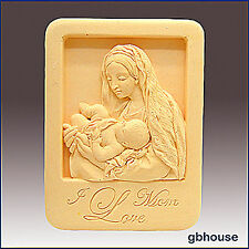 Silicone Soap/plaster/polymer clay Mold – Mother and Child in Niche Frame