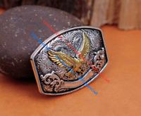 6pc Western Cowboy Texas Gold Eagle Leathercraft Belt Horse Saddles Conchos Set
