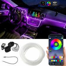 6M LED RGB Auto Ambientebeleuchtung Innenraumbeleuchtung Lichtleiste Mit App DHL