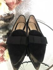 Russell & Bromley Black Suede Flat Shoes. Size Eu 36/ Uk 3