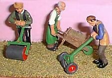 More details for langley models figure kits o 3 gardeners with lawnmower, barrow, lawnroller