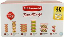 Rubbermaid 1949248  TakeAlongs Assorted Food Storage Containers, 40-Piece Set,
