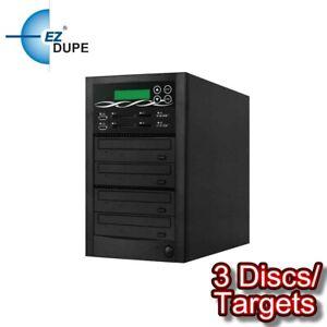 EZ DUPE Media Mirror PLUS 1 to 3 Duplicator - Flash (SD CF MS MMC USB) / DVD