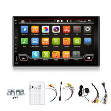 "Autoradio 7"" Double Quad Core 2 DIN No DVD Android Stereo Car GPS WIFI Sat Nav"