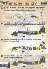 Print Scale Decals 1/72 HENSCHEL Hs-129 German WWII Bomber