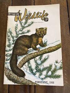 January 1966 Wyoming Wildlife Magazine Wyoming Game & Fish Comm. Publication VG
