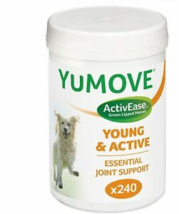 Lintbells YuMOVE Young and Active Dog Hip & Joint Supplement for Dogs Age 2 - 6