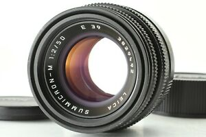 *ALMOST MINT* LEICA SUMMICRON M 50mm F/2 E39 Ver 4TH M Mount Lens From JAPAN
