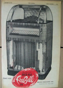 Rock-ola 120 Selections Fireball model 1436 phonograph 1952 Ad