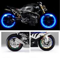 16 bandes rétro réfléchissantes bleu roues moto ou voiture bmw honda yamaha