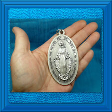 "Catholic Medal SUPER LARGE Miraculous Medal 2"" x 3 1/2"" BIG SIZE PENDANT LOOK ❤️"