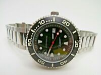 Aquinus Immersius Automatic Watch Swiss Movt Black Dial Dive Watch 45mm