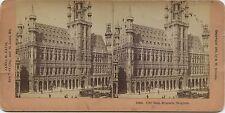 Bruxelles Hôtel de ville Belgique Photo Stéréo Stereoview Vintage