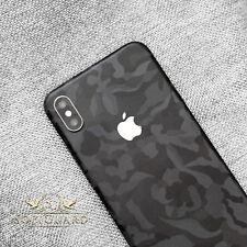 SopiGuard 3M Black Camo Vinyl Skin Full Body Wrap for Apple iPhone XS MAX