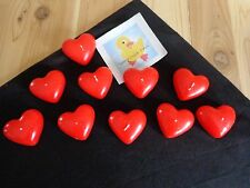 RED HEART FLOATING CANDLES Lot of 10 Loose Wedding Valentine Anniversary Decor