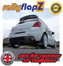 rallyflapz Suzuki Ignis Sport Schmutzfänger schwarz Logo weiß & Rot (4mm PVC)